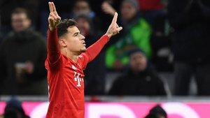 Coutinho dio muestras de su clase en el Allianz Arena con una actuación sublime.