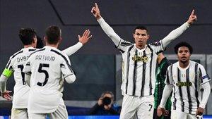 Cristiano marcó el provisional empate 1-1 frente al Ferencvaros