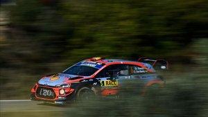 Dani Sordo acabó tercero en el Rally di Alba