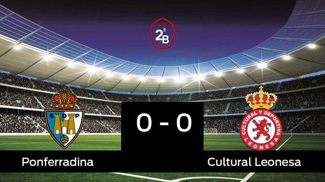 Empate, 0-0, entre la Ponferradina y la Cultural Leonesa