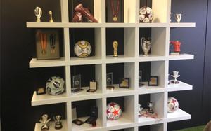 La estantería del despacho de Gerard Piqué