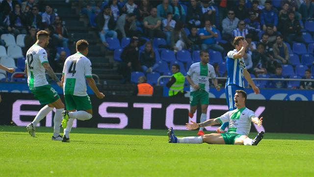 El Extremadura UD venció al Deportivo por 1-2