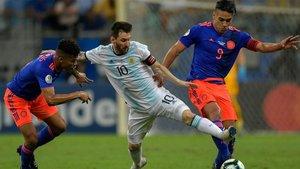 Falcao y Messi se enfrentaron en la primera jornada de la Copa América