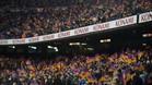 La grada no se llenó en el Camp Nou para ver cómo el equipo llegaba a la final de Copa