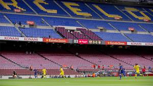 La imagen de la grada vacía del Camp Nou