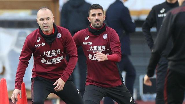 Iniesta se prepara arduamente de cara a la reanudación de la liga japonesa
