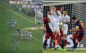 ¿Se inspiró Messi en Maradona en el primer gol ante el Sevilla?