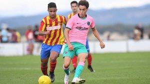Jandro Orellana jugó la primera mitad; el de Gavà volverá a ser clave en el centro del campo del filial