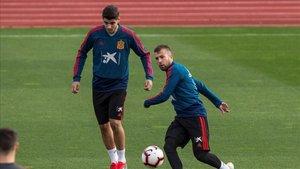 Jordi Alba ocupa el lateral izquierdo contra Croacia