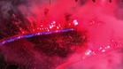 Las bengalas que ondearon en el PSG-Madrid