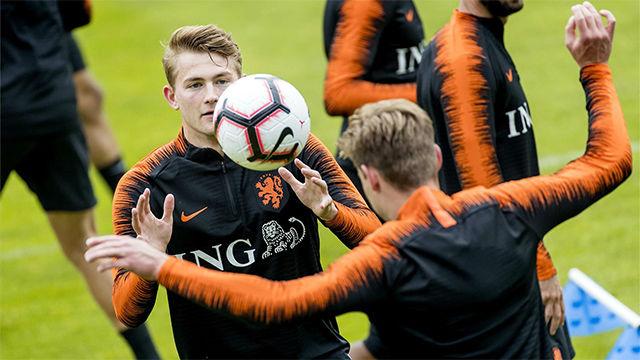 De Ligt no quiere saber nada de su futuro hasta jugar con Holanda