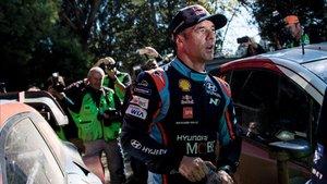 Loeb, en Chile, donde logró su primer podio con Hyundai