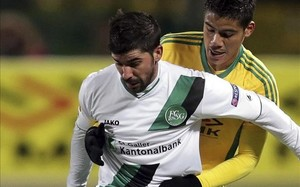 Lorenzo Melgarejo en un partido con el Krasnodar