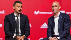 Luis Enrique Martínez y Luis Rubiales