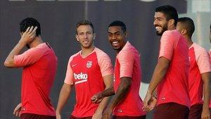 Malcom solo se divierte en los entrenamientos del Barça