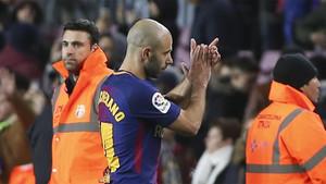 Mascherano se despidió del Camp Nou