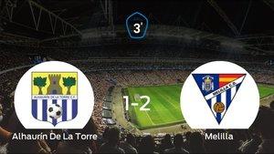 El Melilla CD suma tres puntos a su casillero ante el Alhaurín De La Torre (1-2)