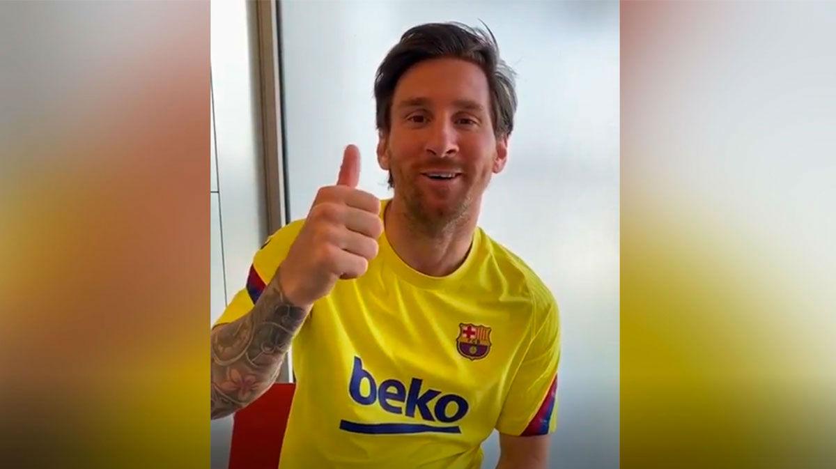 El mensaje de ánimo de Messi al presidente del Almería