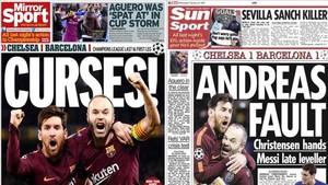 Messi e Iniesta, en las portadas de la prensa británica