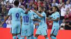 Neymar marcó el único gol del partido
