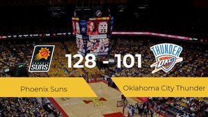 Phoenix Suns logra la victoria frente a Oklahoma City Thunder por 128-101