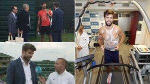 Piqué charló con Djokovic y hoy pasó la revisión médica