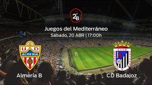 Previa del encuentro: enfrentamiento en el Juegos del Mediterráneo: Almería B - Badajoz