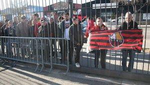 Protesta de socios y trabajadores del Reus