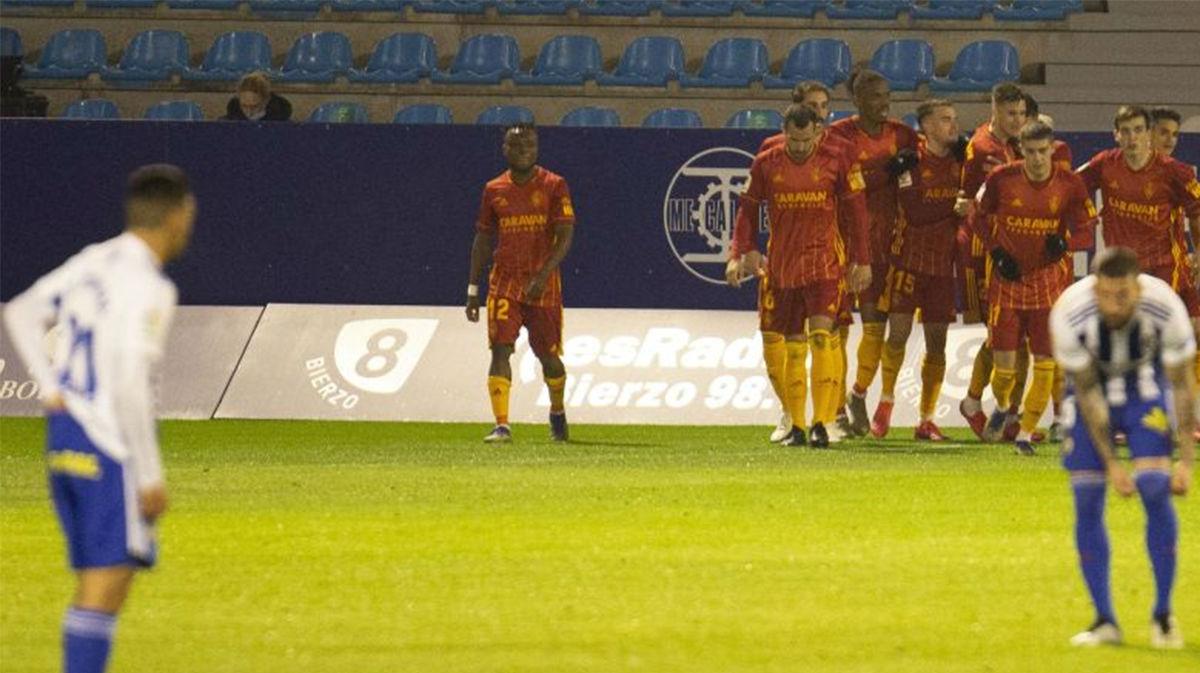 El resumen de la remontada y victoria de la Ponferradina al Zaragoza