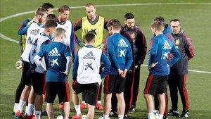 La Selección se entrenó con las ausencias de Asensio y Fabián Ruiz
