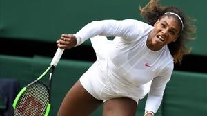 Serena Williams durante el juego ante Goerges