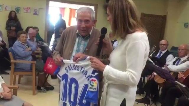 La sorprensa más emotiva del Leganés a un aficionado de 104 años