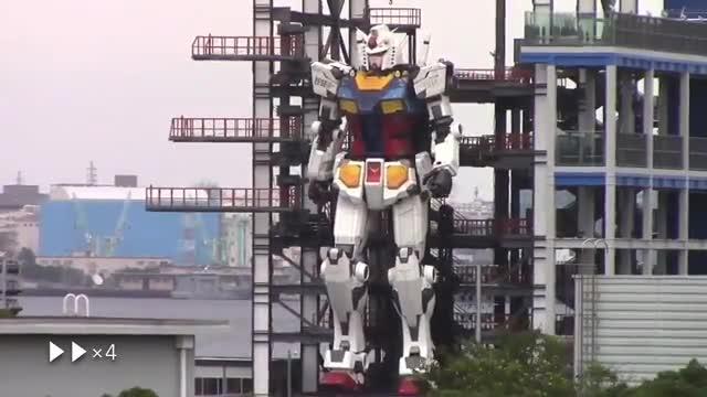 El sueño de los amantes de los mechas se hace realidad con este Gundam de 18 metros de altura
