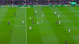 Una imagen del dibujo del Barça