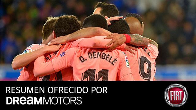 Una victoria que vale media Liga: el video del vital triunfo del Barça ante el Alavés