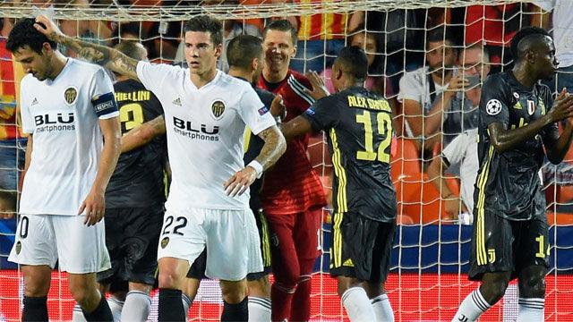 El Valencia se estrella en Champions ante una Juve sin CR7