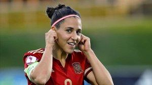 Vero Boquete, en un encuentro con la selección española