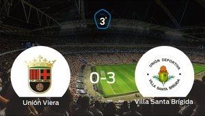El Villa Santa Brígida se queda con los tres puntos frente al Unión Viera (0-3)