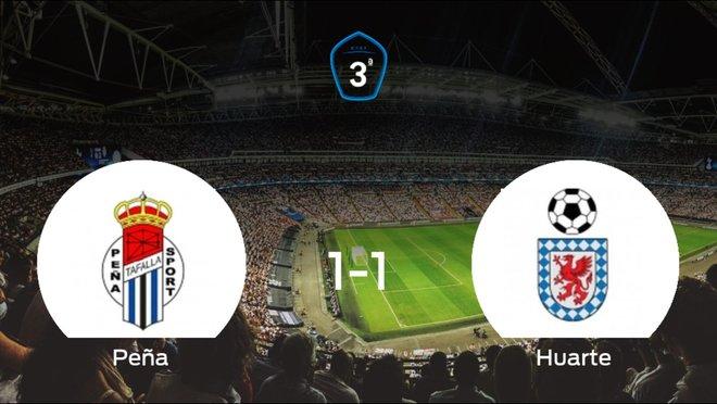 La Peña Sport y el Itaroa Huarte empatan y se llevan un punto (1-1)