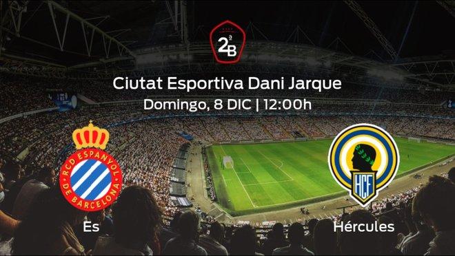 Previa del partido de la jornada 16: Espanyol B - Hércules