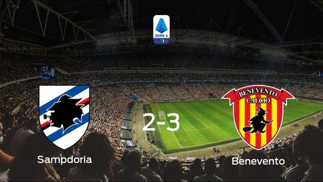 El Benevento se lleva tres puntos a casa después de ganar 2-3 a la Sampdoria