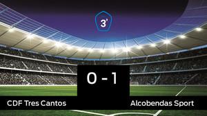 El Alcobendas Sport derrotó al Tres Cantos por 0-1