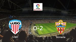 El Almería logra una trabajada victoria frente al Lugo (0-2)