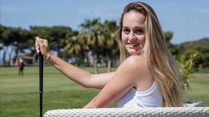 Andrea Jonama posa para SPORT en su club, Golf Terramar