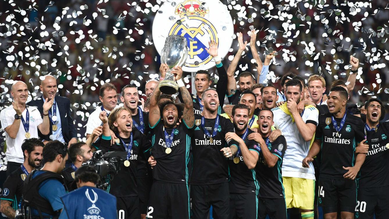 Así ha levantado el Real Madrid el trofeo de la Supercopa de Europa