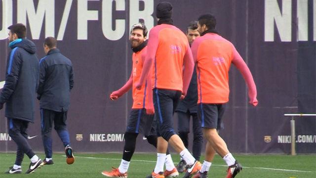 Así ha sido el último entrenamiento del Barça previo al derbi