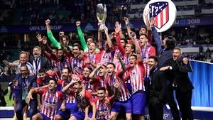 El Atlético de Madrid, vigente campeón de la Supercopa de Europa del 2018