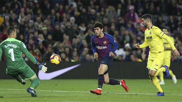 El Barça se impone al Villarreal con un Aleñá estelar