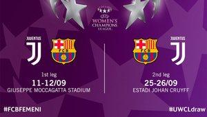 Barça y Juventus se verán las caras en la UWCL