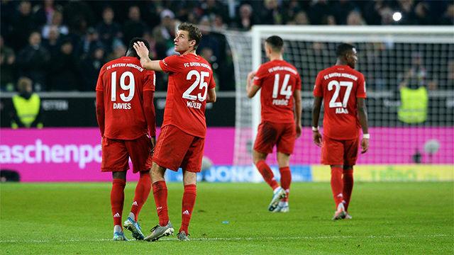 El Bayern, fuera de los puestos europeos tras perder contra el Monchengladbach (2-1)